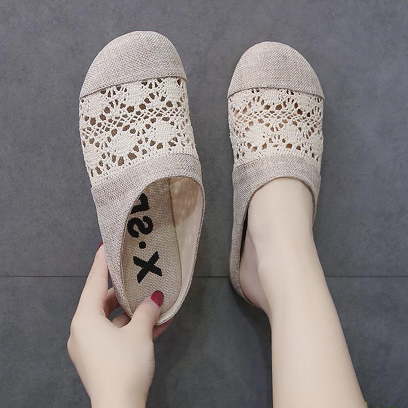 包头半拖鞋2020夏季新款懒人凉拖鞋