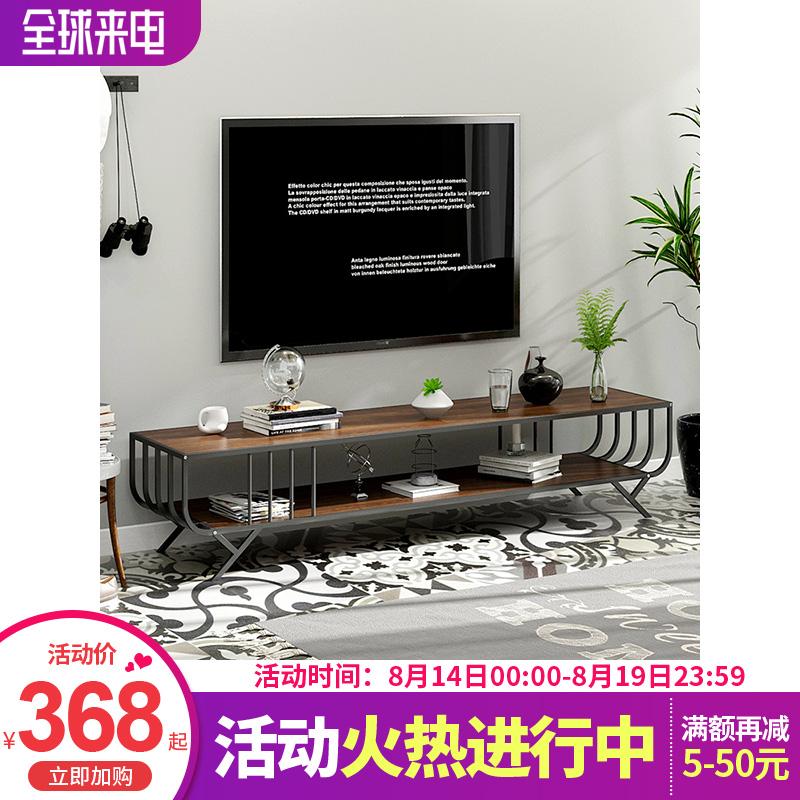 工业风电视柜家用客厅时尚地柜简约现代多功能可收纳电视机柜子,可领取10元天猫优惠券