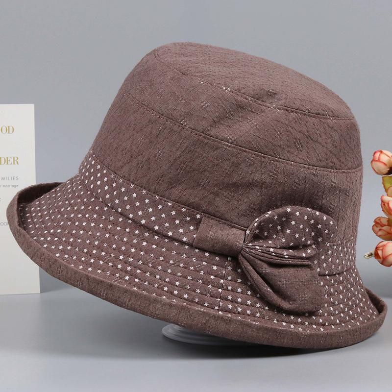 春秋天中老年人帽子女妈妈渔夫帽薄奶奶盆帽老太太布帽休闲时装帽热销218件有赠品