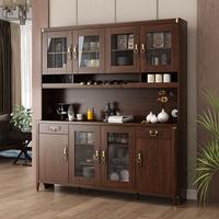 新中式餐边柜一体靠墙家用厨房酒柜质量怎么样