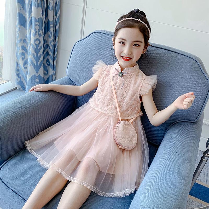 女童连衣裙夏装2020新款夏洋气小女孩公主裙网红儿童装蓬蓬纱裙子