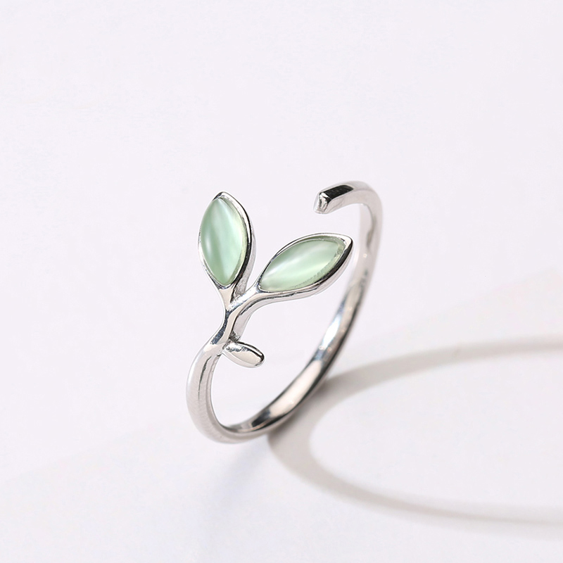 925 silver bud cats eye ring for womens literature and art