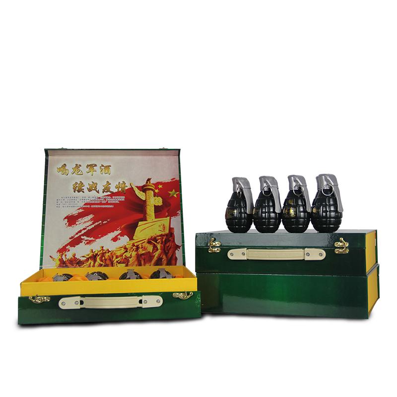 【龙军酒】军酒礼盒小手雷造型纪念酒浓香型50度125ml*8送礼聚会