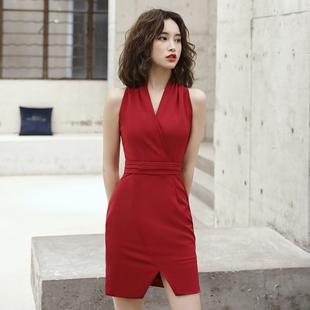 结婚礼服裙女平时可穿 法式 短款 新娘敬酒服2020新款 红色小个子修身