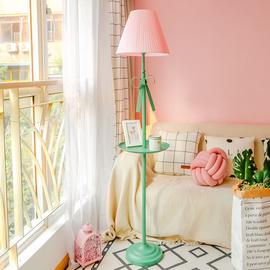 北欧落地灯置物架卧室客厅遥控创意宜家立式可爱儿童房间高脚台灯图片