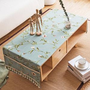 美式田园风格装饰餐桌布乡村复客厅茶几桌布家用电视柜防尘布盖巾