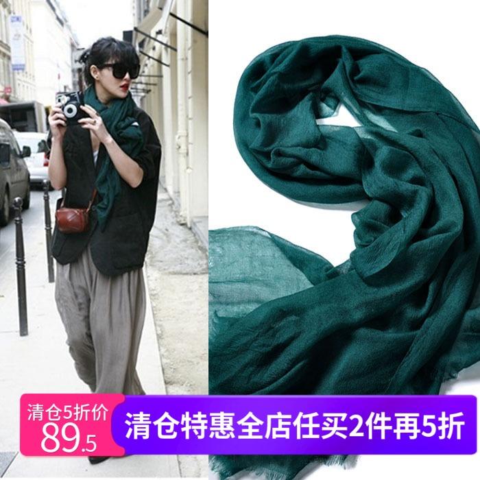 欧单高奢定制超薄戒指绒羊绒围巾女秋冬季空调披肩纯色百搭舒适
