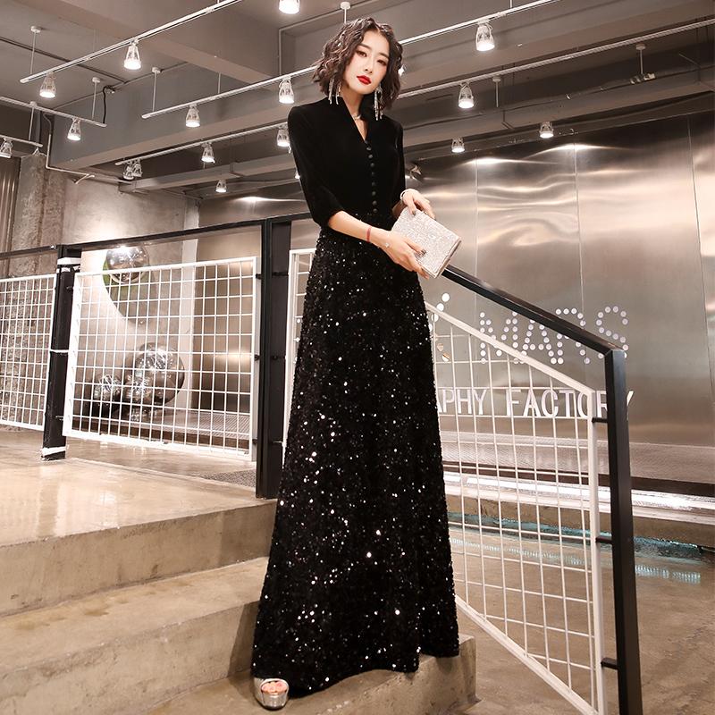 小女2020新款宴会气质高端晚礼服
