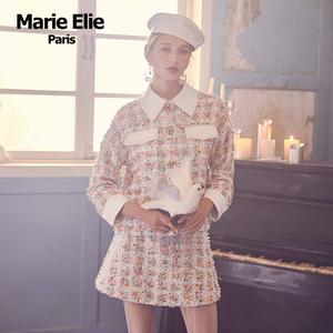 商场同款MarieElie秋冬经典款 芷蝶珠釉花呢半裙女E2833P04990