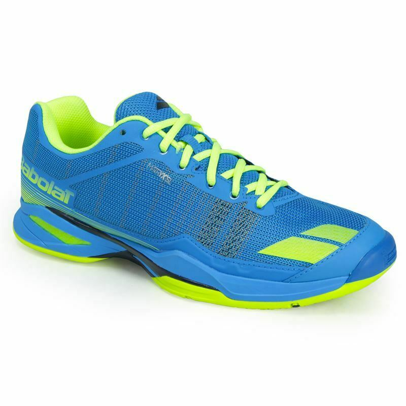 Buy Babolat jet team all court blue green mens tennis shoes for comfort and ventilation