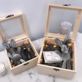 ins高档礼品盒正方形空盒婚礼伴手礼物盒仪式感送口红香水包装盒图片