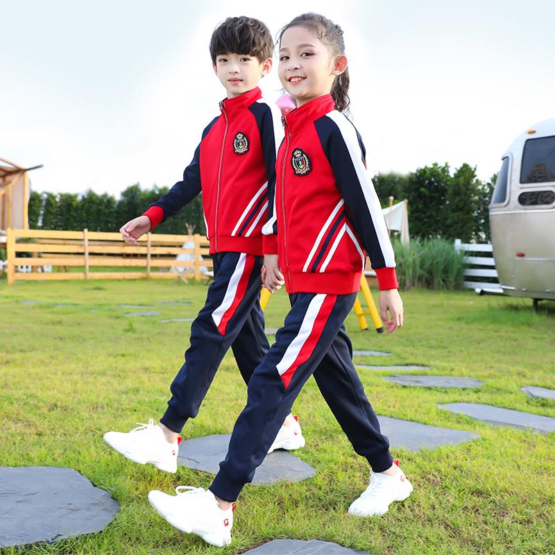 幼儿园园服秋冬装小学生校服春秋套装男女儿童班服运动会服三件套