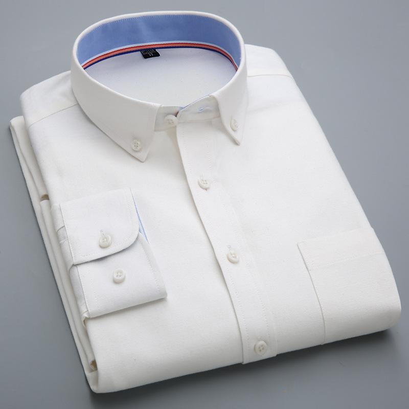 男士衬衫韩版男式休闲牛津纺衬衣 Mens Shirt Long Sleeve Shirts