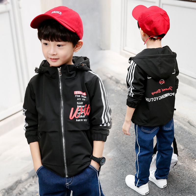 男童外套秋装2018新款韩版休闲薄款儿童夹克中大童男孩帅气上衣潮