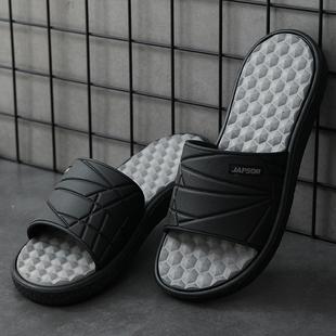 男士拖鞋外穿潮夏季室外脚底按摩网红防臭潮厚底增高运动凉拖鞋男