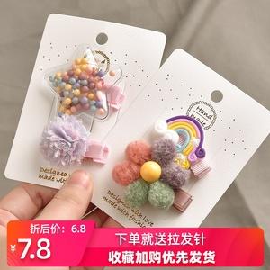 韩国儿童发夹头饰女童刘海夹bb夹婴幼儿刘海夹子可爱卡通边夹发卡
