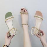 透明凉鞋女夏季配裙子穿的鞋2020年新款百搭ins仙网红高跟罗马鞋