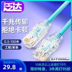 泛达六类网线非屏蔽成品跳线cat6类电脑家用宽带千兆1米10米定制