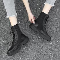9H210DZ9秋冬新款英伦风女靴子2019国内专柜正品代购思加图短靴