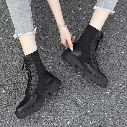 马丁靴女潮ins2019秋冬季新款加绒百搭英伦风网红帅气秋款短靴子