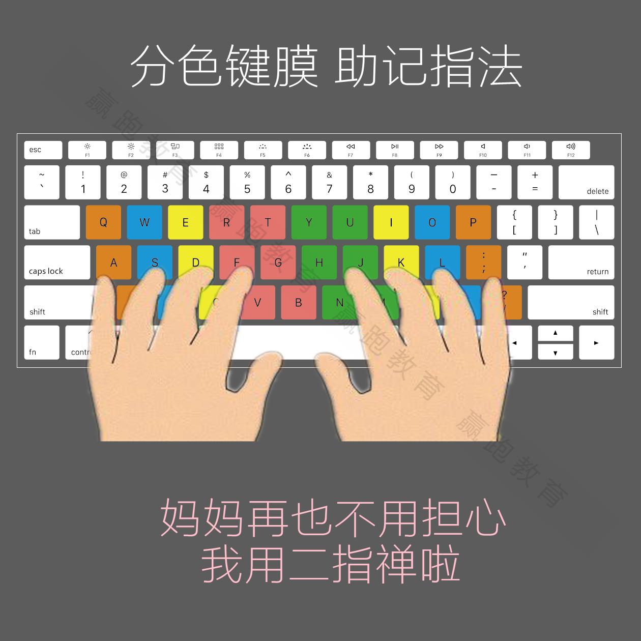 打字键盘练指法笔记本电脑键盘膜初学生少儿童编程键位练习打字