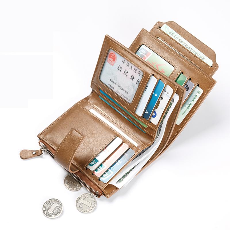 钱包男短款竖款多卡位青年男士拉链皮夹驾驶证零钱夹韩版商务潮人