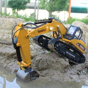童励23通道汇纳580仿真挖掘机全合金遥控玩具车工程车7-14岁模型