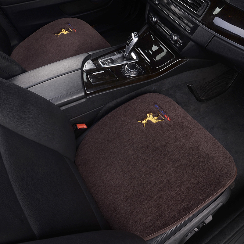冬季羊毛汽车坐垫新宝马5系X1X3奥迪A4A6Q3Q5L单片无靠背短绒座垫