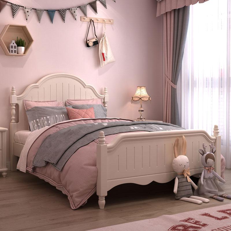 女孩1.5 m儿童家具组合套装儿童床