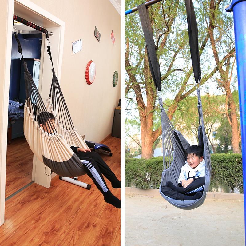 儿童秋千室内户外庭院房间卧室吊椅阳台摇篮床家用门框布袋荡秋千