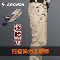 Autumn and winter IX7 instructor Tactical Trousers Male Slimming 9 Special Forces army pants outdoor overalls pants straight tube for training pants