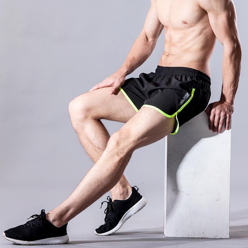 运动短裤男士夏 速干透气三分裤马拉松短裤健身大码宽松跑步3分裤