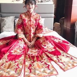大码秀禾服新娘2020新款中式结婚礼服嫁衣200斤胖mm孕妇女装显瘦