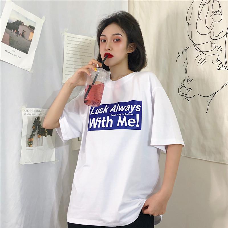 热销24件五折促销春夏新款韩版ulzzang字母印花t恤