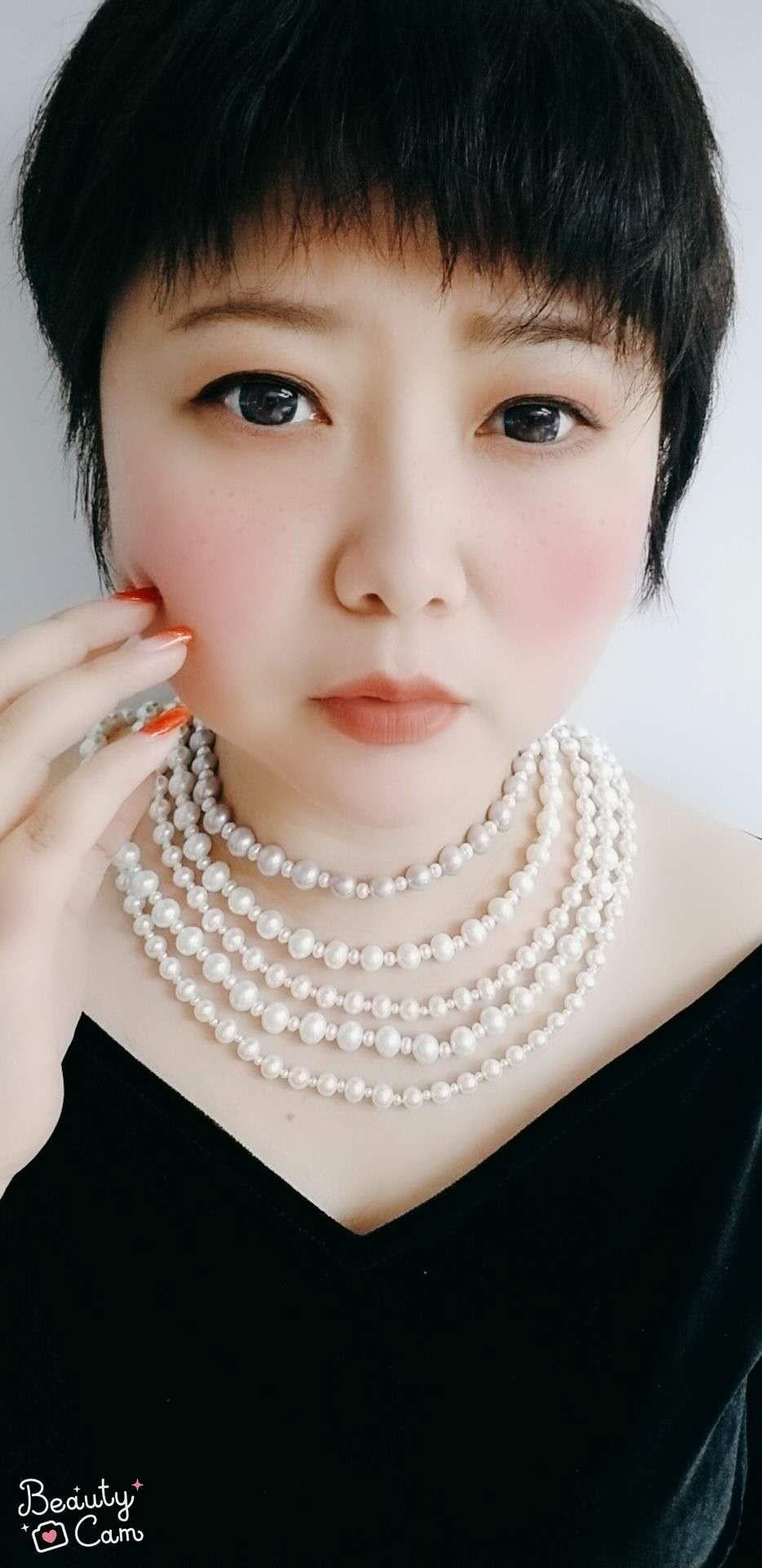 纯珍珠蝴蝶戒指S925熙熙珠宝