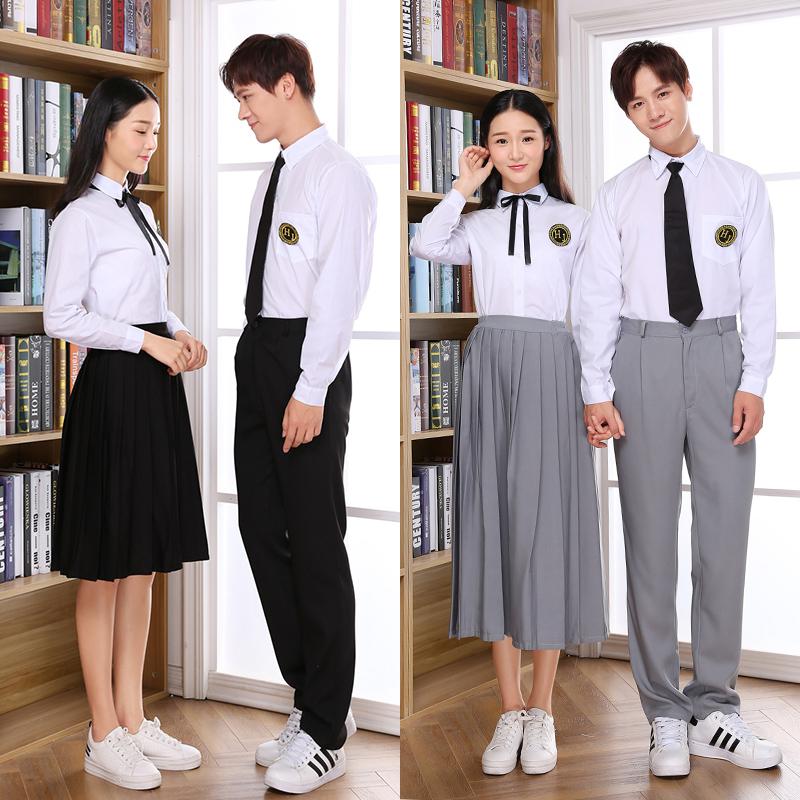 学院风毕业校服套装韩版男女高中学生日系小时代班服制服情侣秋季