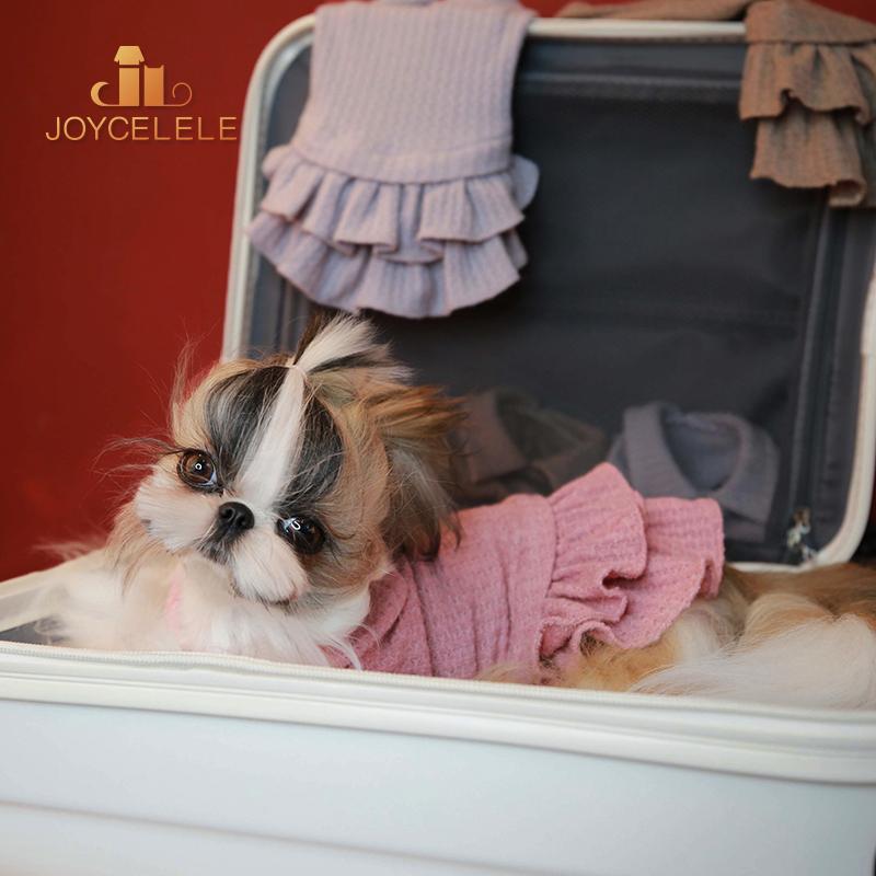 Joycellele pet clothing jlpets dog clothing knitting multicolor small dog clothing