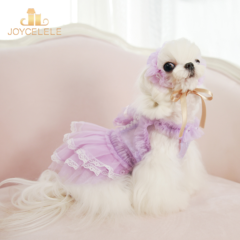 Joycellele pet clothes jlpets dog clothes spring and summer pet Dress Small and medium sized clothes