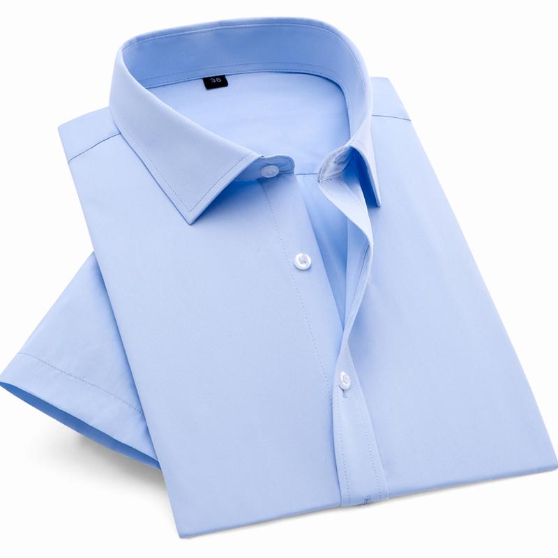 男女白衬衫定制刺绣logo长短袖职业衬衣商务工作服装订制来图印字