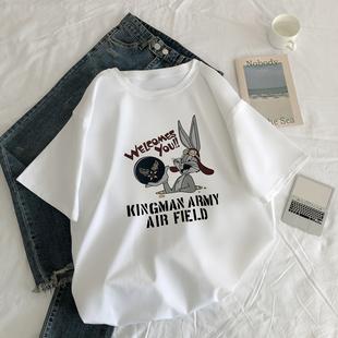 韩版 宽松百搭超火cec半袖 白色t恤女短袖 夏季 上衣ins潮 2020年新款
