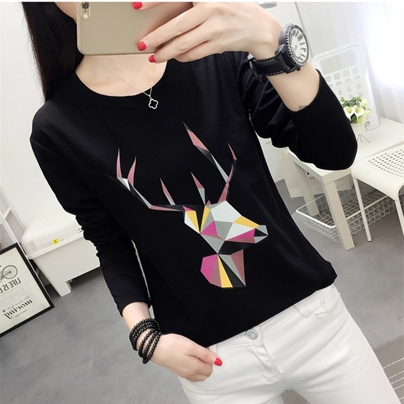 Early autumn student top spring and autumn long sleeve T-shirt girl big 13 little girl 14 base coat 15-16-17-18 years old
