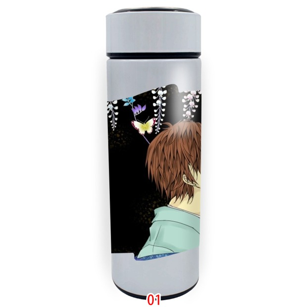 Jueyuans storm idea straight body white thermos cup portable vacuum tea cup 1689