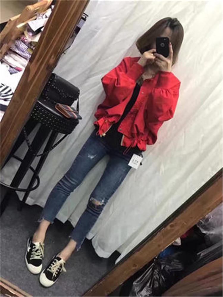 学生短款外套女装春秋韩版抽绳收腰棒球服长袖薄款风衣休闲夹克潮
