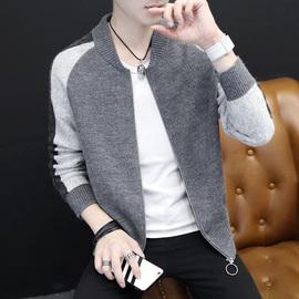 春秋季针织外套男韩版潮流个性开衫男装秋装外穿衣服学生帅气褂子