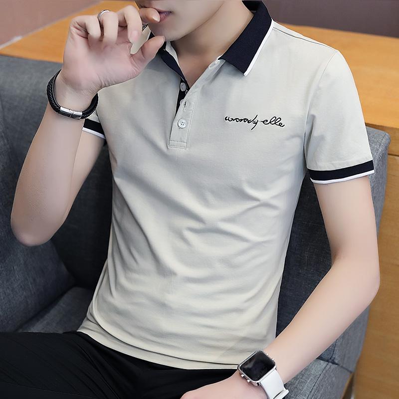 夏季短袖t恤男士韩版潮流男装polo衫潮流翻领半袖学生上衣服衬衫