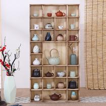 一缘居红木家具非洲花梨木刺猬紫檀新中式实木书架书柜博古架