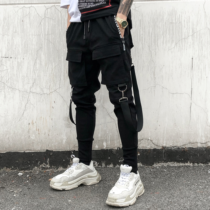 Spring and summer 2020 mens casual Leggings dark country tide night court tapered elastic Haren pants