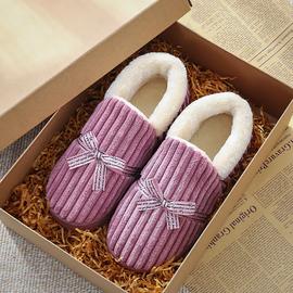 新款棉拖鞋女包跟情侣家居家室内月子厚底防滑毛绒保暖棉拖鞋男冬