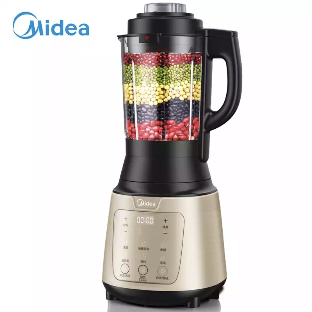 Midea wall breaker new household multi-function juicing and cooking soybean milk machine auxiliary food Baye Dao pb80easy215
