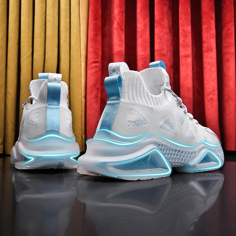aj男鞋夏季高帮鞋男透气增高莆田弹力袜子鞋球鞋男欧文篮球运动鞋